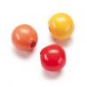 Mix de perles en bois 15mm ja/roSB14
