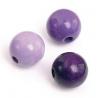Mix de perles en bois 15mm lilasSB14