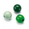 Mix de perles en bois 15mm vert SB14