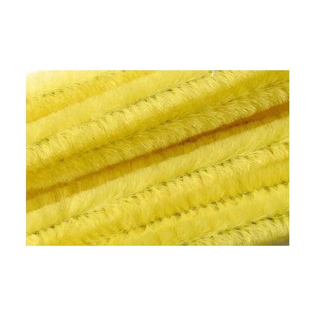 Chenille 50cm, jaune citron 8mm 10 pces