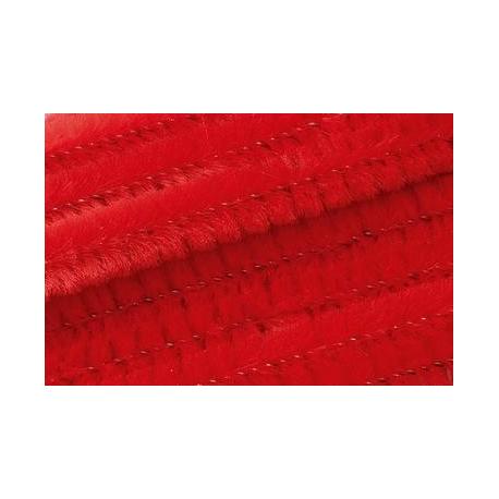 Chenille 50cm, rouge 8mm 10 pces