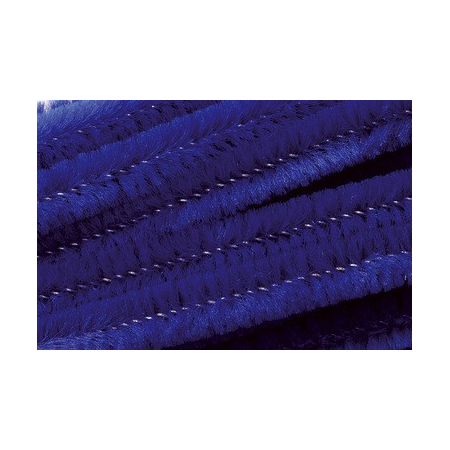 Chenille 50cm, outremer 8mm 10 pces