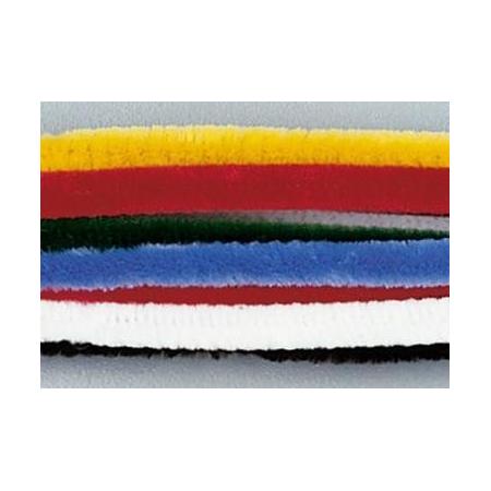 Chenille 50cm, coloris assort. 8mm par 100 pces