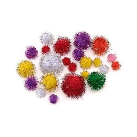 Pompons pailletée multicoloré SB100
