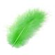 Plumes de marabout vert printemps 15 pces
