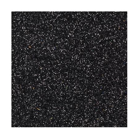 CreaSoft pailleté noir 20x30 2mm