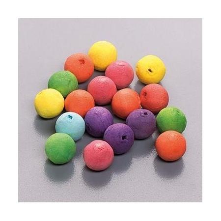 Boule en ouate 25mm 6 couleurs 15 pces