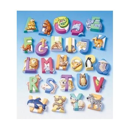 Moule alphabet d'animaux 3 - 4 cm