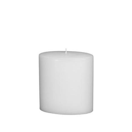 Bougie ovale 150x135mm blanc