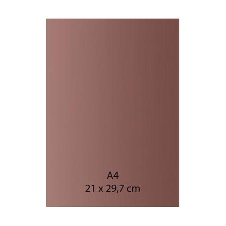Papier auto-adhésif bronze A4 110GRS