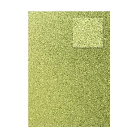 Carton pailleté vert lime A4 200GRS