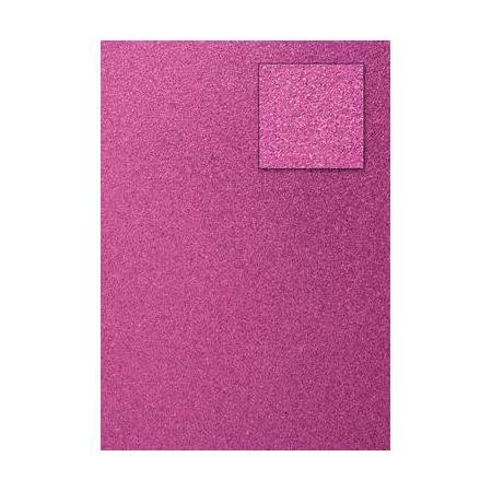 Carton pailletéf uchsia A4 200GRS