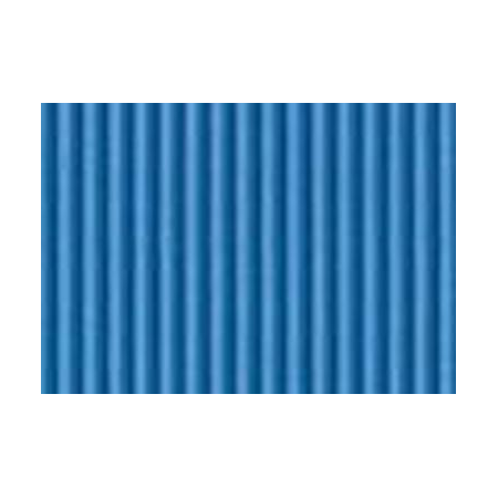 Carton ondulé 50x70cm turquoise