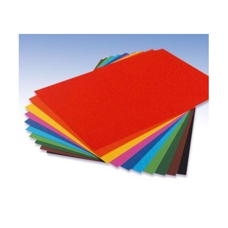 Papier de couleur assortis 22 x 33 130Grs 10 feuilles