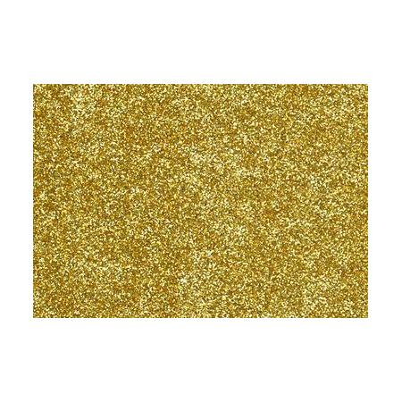 Film à repasser glitter A4 or