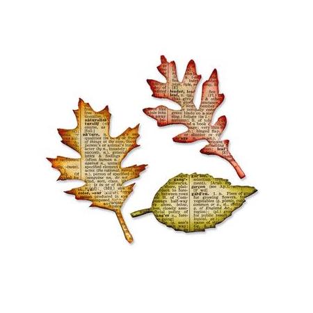 Bigz die TH tattered leaves