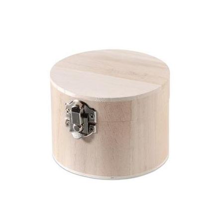 FSC Boîte en bois ronde 9,5x7