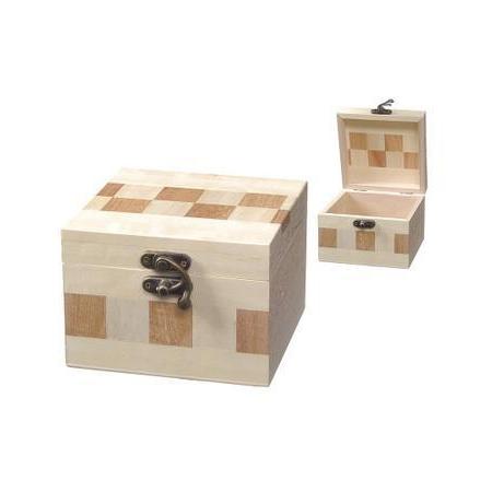Boîte échiquier bois12x8,5