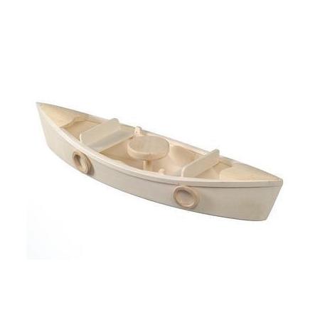 Barque à rames bois38x10x6