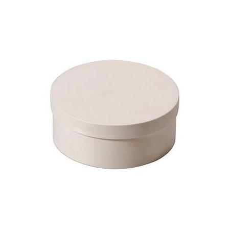 Boite en copeaux ronde en peuplier d:14x5,5