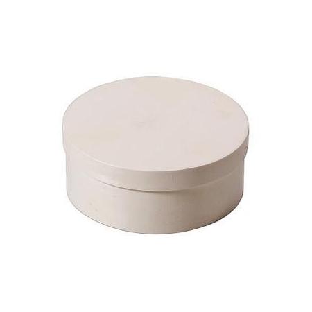 Boite en copeaux ronde en peuplier d:16x6,5