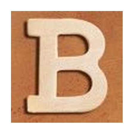 Lettre en bois 'B' 4cm