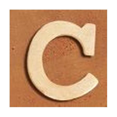 Lettre en bois 'C' 4cm