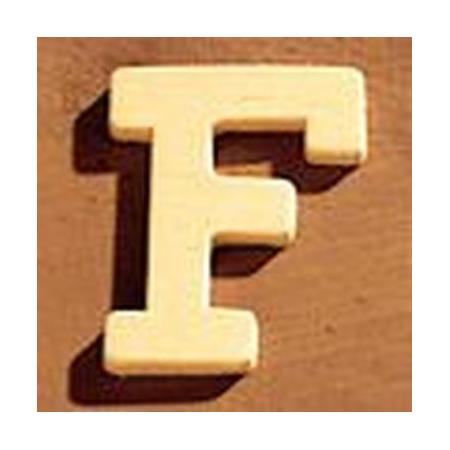 Lettre en bois 'F' 4cm