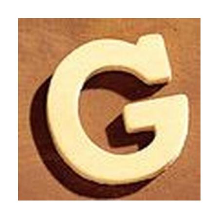 Lettre en bois 'G' 4cm