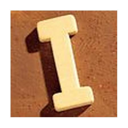Lettre en bois 'I' 4cm