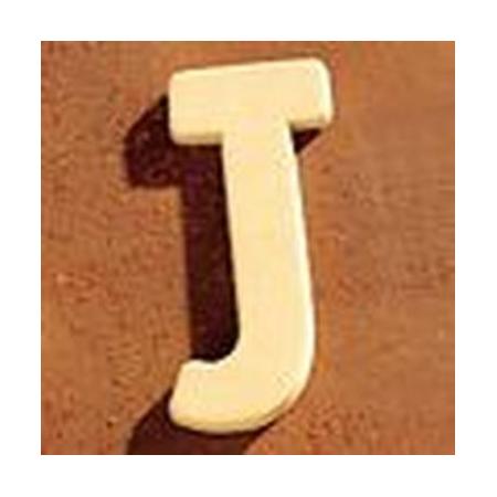 Lettre en bois 'J' 4cm