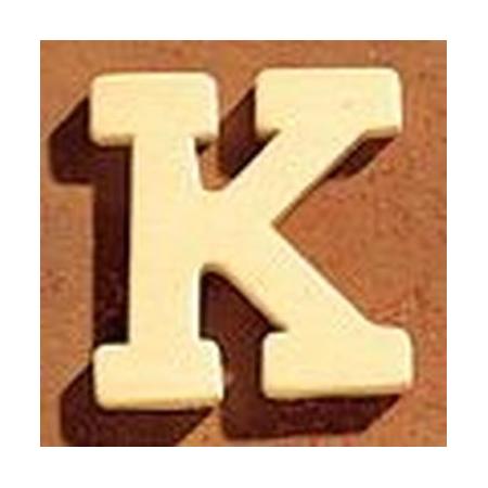 Lettre en bois 'K' 4cm