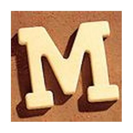 Lettre en bois 'M' 4cm