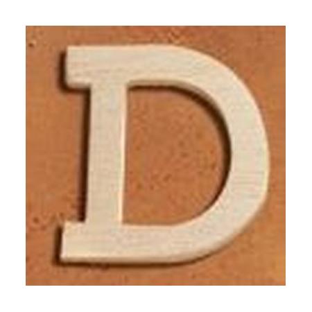 Lettre en bois 'D' 4cm