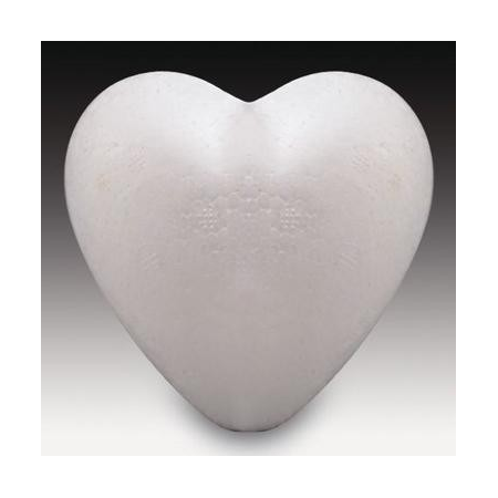 Coeur plat en polystyrène 15cm