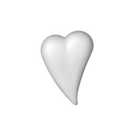 Coeur goutte polystyrène 8 x 5