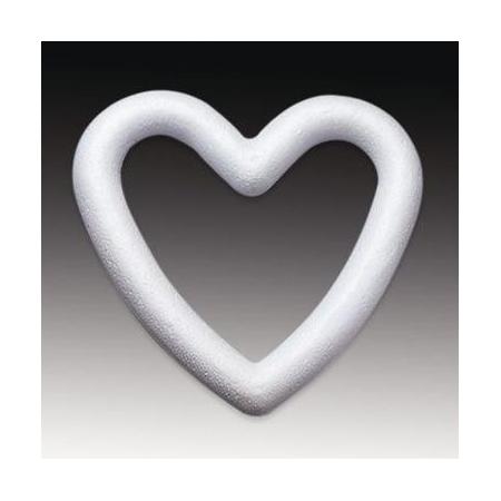 Coeur contour en polystyrène 15cm les 5 pièces