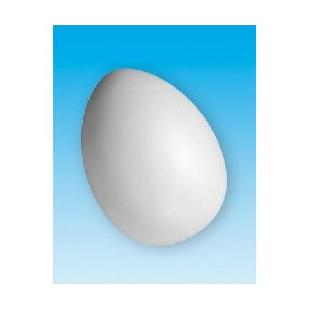 Oeuf en plastique blanc 75x110