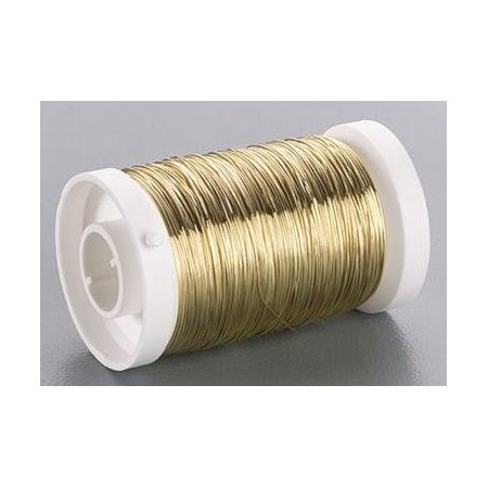 Fil métallique 0,30mm laiton 80m