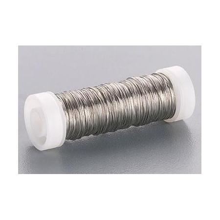 Fil métallique laqué argent 0,5mm 50m