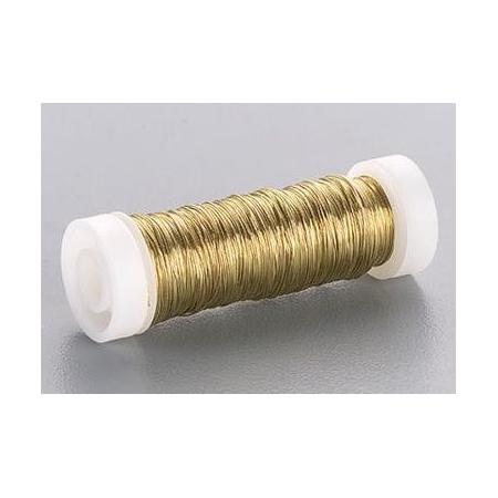 Fil métallique laqué or 0,5mm 50m