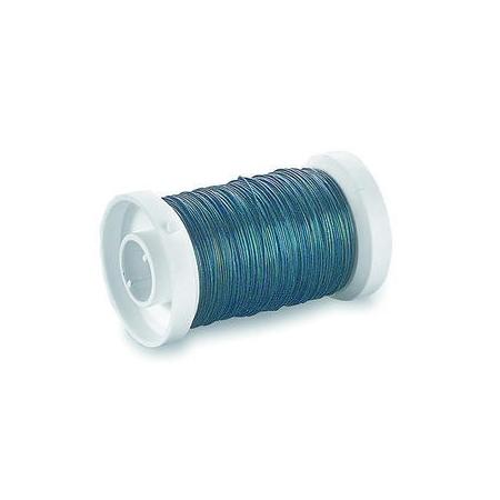 Fil de fer pour fleurs 0,35mm bleu 100m