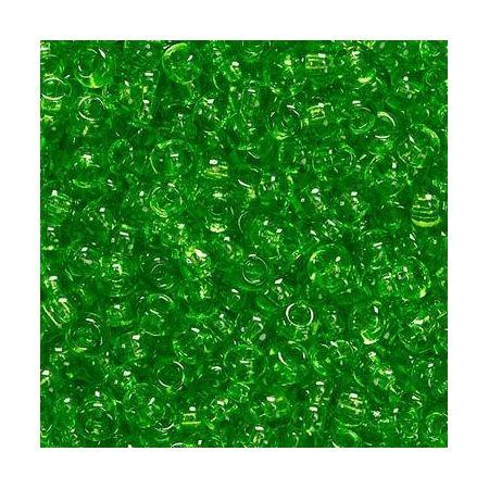 Rocailles en verre vert