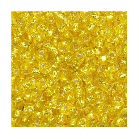 Rocailles en verre jaune
