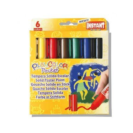 Gouaches solide Basic Pocket - Boîte de 6 couleurs