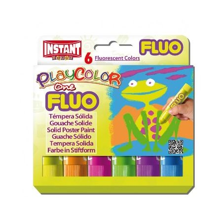 Gouaches solide Fluo One - Boîte de 6 couleurs