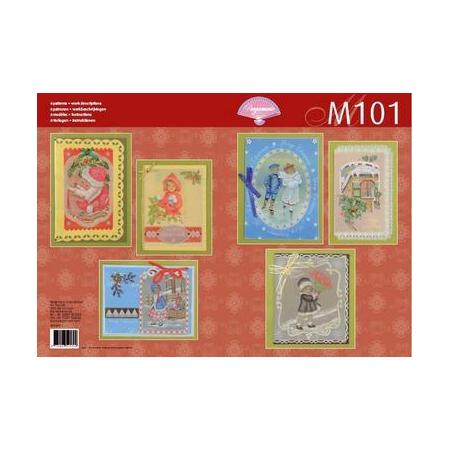 Livre de motifs M101 Noël victorien