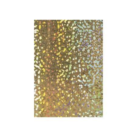 Carton hologramme 50x70 étoiles 160g or