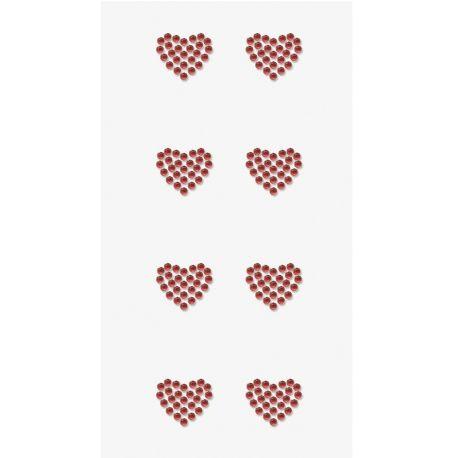 Sticker strass Coeur rouge