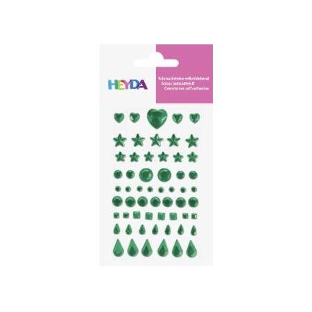 Sticker Strass vert foncé 58pc